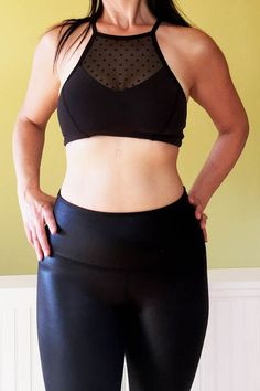 Review: Beyond Yoga Absolutely Mesh Dot Halter Bra