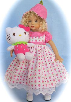 """STRAWBERRY KITTY FOR DIANNA EFFNER 13"""" LITTLE DARLING   BY SIS"""