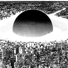 Stream That's All by Yanissimo from desktop or your mobile device Landscape Concept, City Landscape, Black And White Art Drawing, Akira Anime, Heaven Art, Katsuhiro Otomo, Neo Tokyo, Ink Pen Drawings, Bd Comics