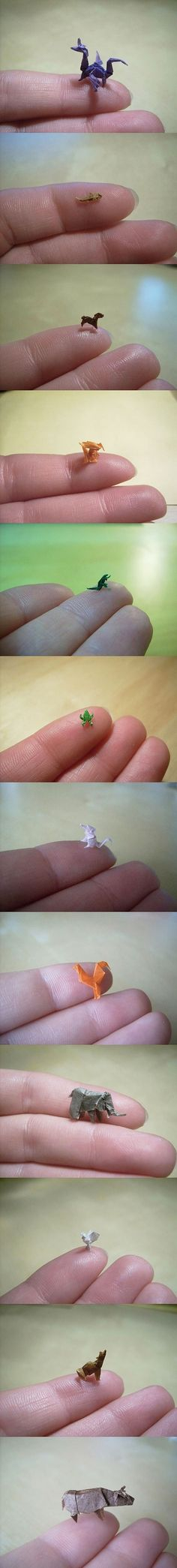 Miniature Origami, i used to do fun things like that. :)