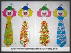 Clown Crafts, Circus Crafts, Es Der Clown, Le Clown, Preschool Crafts, Crafts For Kids, Theme Carnaval, Mardi Gras, Activities For Kids