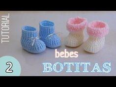 Como tejer botitas para bebes (2/2) - YouTube