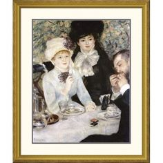 Global Gallery 'After Lunch' by Pierre-Auguste Renoir Framed Painting Print Size: