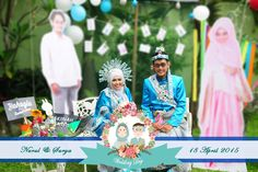 Nurul+Surya. Muslim Wedding. Photobooth