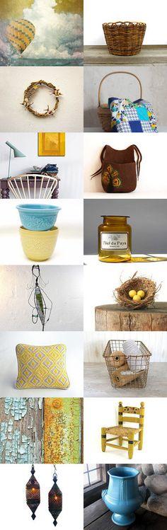 Basket Case by Beatriz McDavid on Etsy #alegriacollection #vintageandmain