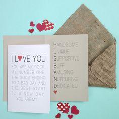 Valentine's Card for Husband - Modern by KatsPrint on Etsy https://www.etsy.com/listing/220473690/valentines-card-for-husband-modern