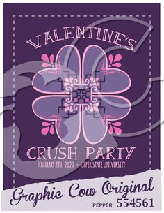 Valentines Crush party heart #grafcow