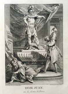 Dom Juan ou le festin de pierre - Molière - gravé par Laurent CARS d'après François BOUCHER - MAS Estampes Anciennes - Antique Prints since 1898