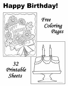 Birthday coloring pages!