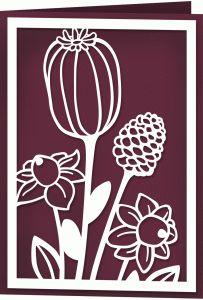 Silhouette design Store - Podívejte se na design # 66927: podzim seedheads karta