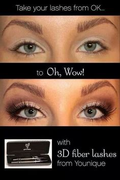 Younique mascara is such a great way to give you the look of false lashes with just mascara. Click on the image to get yours, we have a love it guarantee! #youniquemascara.