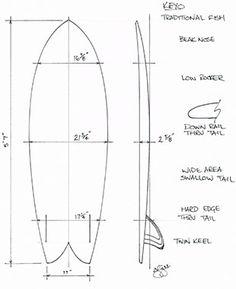 Surfboard schematic as art!