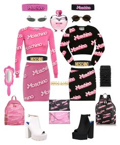 """""""Moschino Barbie theme"""" by gypsy-paradiso ❤ liked on Polyvore featuring Moschino and Jeffrey Campbell"""