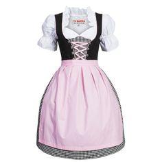 Dirndl 3 tlg.Trachtenkleid sw/ws kariert m.rosa Schürze Gr. 36-46 Neu B-Ware Waist Skirt, High Waisted Skirt, Pink, Tops, Skirts, Fashion, High Waist Skirt, Oktoberfest, Blouses