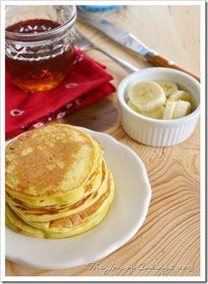 Homemade Skillet Pancakes with Chobani Non-Fat Plain Greek Yogurt
