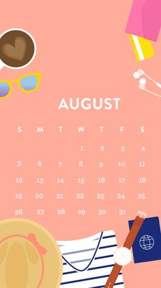 Calendar August 2018 Yearly And Monthly Templates August Calender, Cute Calendar, Holiday Calendar, 2019 Calendar, August Wallpaper, Calendar Wallpaper, Summer Wallpaper, Macbook Wallpaper, Wallpaper Iphone Cute
