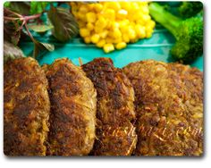 Persian Kotlet---1 lb Ground Beef; 1 Lrg Potato, grated; 2 Med Garlic Cloves, diced; 1 Sm Onion, diced; Curry, Pepper, Salt---In lrg bowl, combine onions, garlic and potatoes. Add ground beef, combine. Add spices & mix well. Make small patties and fry in oil. Top with tomato sauce. Serve over Basmati Rice with Yogurt. (add lrg cucumber to lrg tub plain yogurt, salt & pepper)