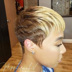 Short Haircuts: Nice cut and color by – blackhairinformat… – Beauty Short Sassy Hair, Short Hair Cuts, Short Hair Styles, Blonde Pixie Cuts, My Hairstyle, Pretty Hairstyles, Hairstyle Ideas, Wedding Hairstyles, Short Relaxed Hairstyles