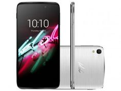 """Smartphone Alcatel Idol 3 16GB Prata Dual Chip 4G - Câm. 13MP + Selfie 5MP Tela 4.7"""" Proc. Quad Core"""