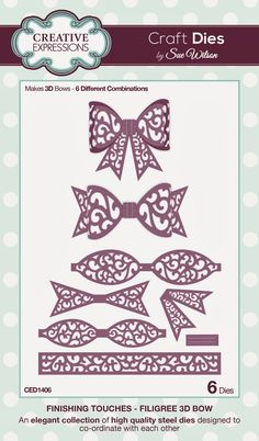 Filigree 3D Bow ~ Finishing Touches Collection -- 6 craft dies