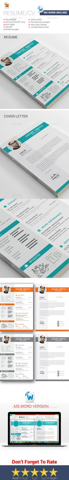 Resume  — EPS Template #cv template #graphicriver resume • Download ➝ https://graphicriver.net/item/resume/18270449?ref=pxcr