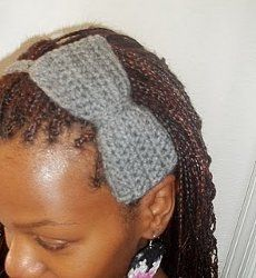 This is an easy crochet pattern that is great for little girls to wear. It's neat because you can move the bow to any side of the headband.