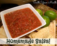 South Your Mouth: Homemade Salsa