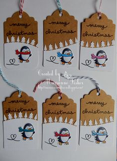 Marianne's Craftroom: Penguin tags
