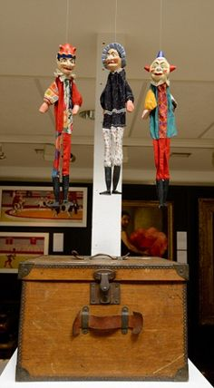 An edwardian Punch and Judy puppet set which is expected to fetch between £1,000-£1,500
