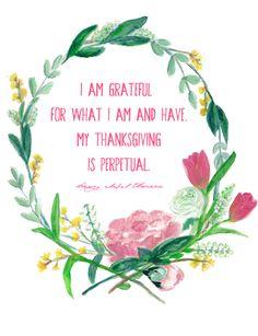 DIY: Beautiful Thoreau watercolor printable    Living on Love blog