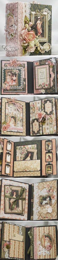 Terry's Scrapbooks: Graphic45 Portrait Of A Lady Scrapbook Mini Album Reneabouquets Design Team Project