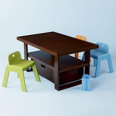 kids play table | Kids Play Tables: Kids Chocolate Colored Adjustable Mojo Play Table ...