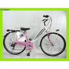 Donna CicloSport DEA 28 Alluminio 6V Shimano Bianco-Rosa