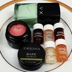 Gressa Lip Boost in Bare, LVX Nail Lacquer in Mynt and all of my favorite KYPRIS serums <3 #natural #luxury #vegan