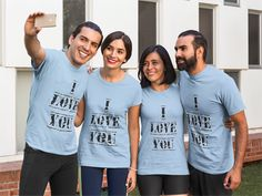 Discover I Love You T-Shirt from BigJim's Shirt Shop only on Teespring - Free Returns and 100% Guarantee - I Love You