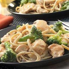 Whole Wheat Pasta Alfredo with Chicken and Broccoli Allrecipes.com