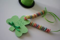 """Easy St. Patrick's Day Toddler Craft...could add """"to have you as my mommy/daddy/etc"""" on back of shamrock."""