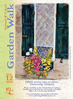 A competition will be held to select original artwork to use on the 2015 posters for the Samuel P. Capen Garden Walk. It is free to enter your artwork and a prize of $100 will be awarded. Anyone may enter. Deadline is April 3, 2015. Click back to the story for details.