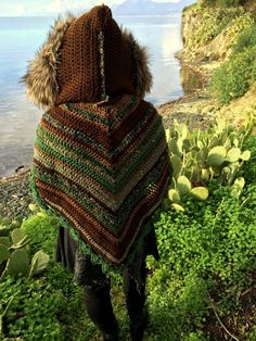 Crochet hooded pixie cape by HorizonsEd3e on Etsy