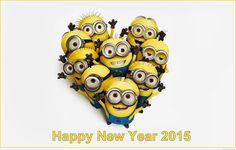 Minions wallpaper love HD wish you a happy new year 2015