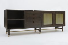 Niguel Credenza | Lawson Fenning - Available in gray with custom interior paint color
