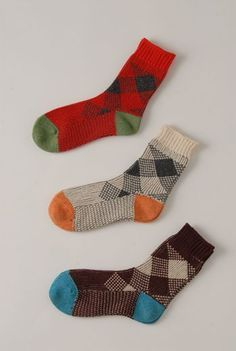 AW1213 CHECK ANKLE SOCKS - VARIOUS - Other Image