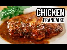 The Best Chicken Francaise Recipe - Easy Meals with Video Recipes by Chef Joel Mielle - Chicken Recipes List, Chicken Recipes Youtube, Turkey Recipes, Dinner Recipes, Lunch Recipes, Appetizer Recipes, Chicken Francese Recipe, Recipe 30 Chicken Francaise, Recipe Chicken
