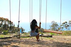 Swing on the La Jolla Tree Swings, San Diego