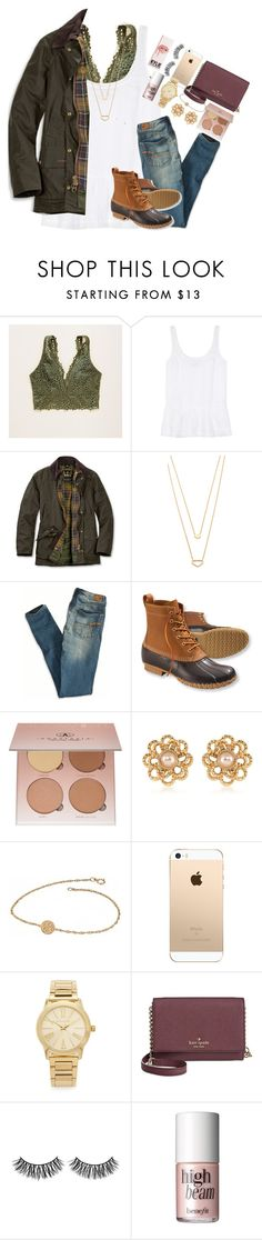 """""""fall set despite my new prof pic taken w a GoPro in the ocean"""" by thefashionbyem ❤ liked on Polyvore featuring Aerie, J Brand, Barbour, Gorjana, American Eagle Outfitters, L.L.Bean, Anastasia Beverly Hills, Carolee, Alison & Ivy and Michael Kors"""