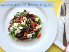 Sweet Lavender Bake Shoppe: black rice salad with homemade vinaigrette...