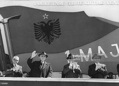 Hoxa During 1 May Parade In Tirana, People's Socialist Republic Of Albania
