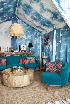 Home Decoration With Curtains Shibori, Tie Dye Bedroom, Interior Decorating, Interior Design, Camping, Eclectic Decor, Decoration, Boho Decor, Room Inspiration