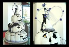 I don't want skeletons or skulls in my wedding but I do like the idea of a cake that looks like pumpkins.