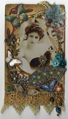 Le Courtesan - Altered Cabinet Card by lauracars12000, via Flickr